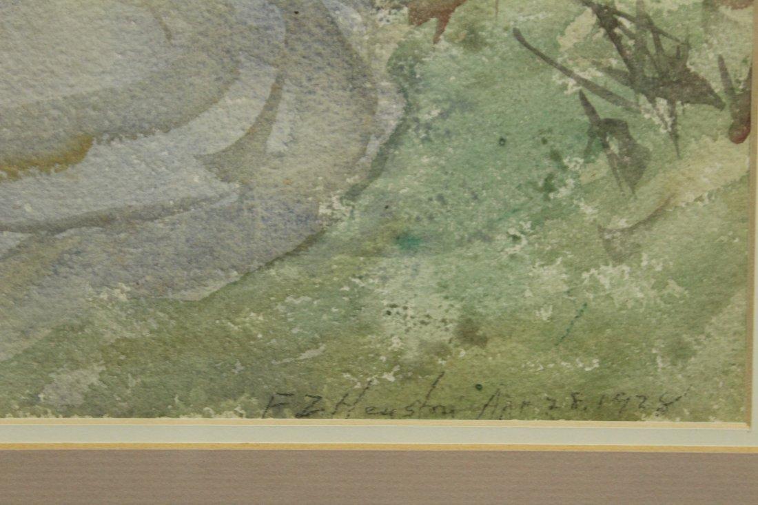 FRANK ZELL HEUSTON [2] Watercolor FINE LANDSCAPES - 4