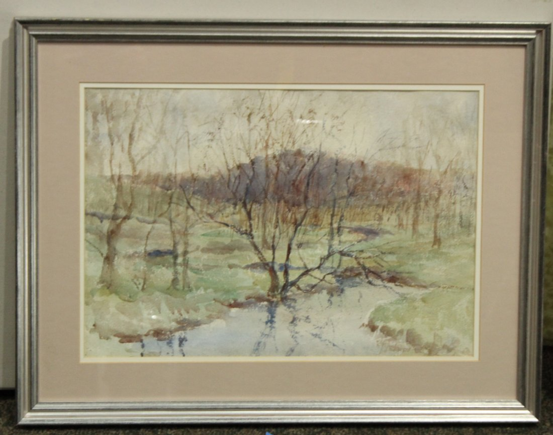 FRANK ZELL HEUSTON [2] Watercolor FINE LANDSCAPES - 6