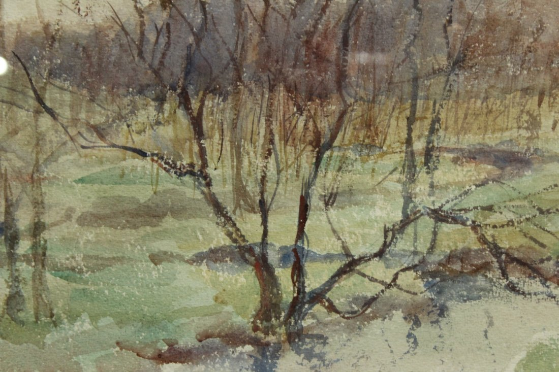 FRANK ZELL HEUSTON [2] Watercolor FINE LANDSCAPES - 7