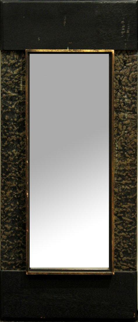Mid Century Design Hanging Mirror Metal Side Panels