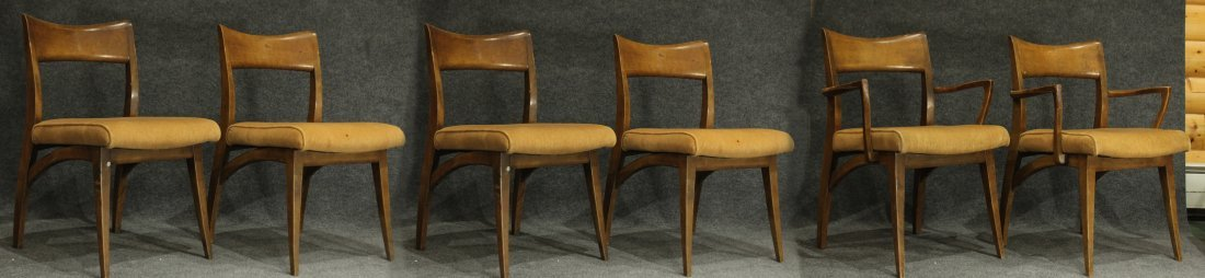 HEYWOOD WAKEFIELD Set of 6 MID CENTURY DINING CHAIRS