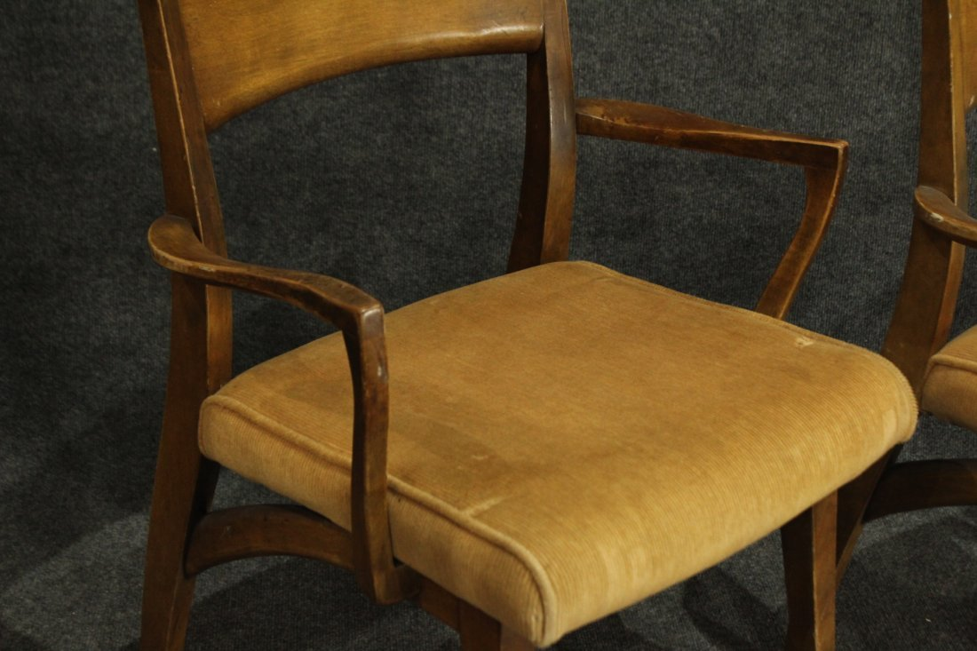 HEYWOOD WAKEFIELD Set of 6 MID CENTURY DINING CHAIRS - 6