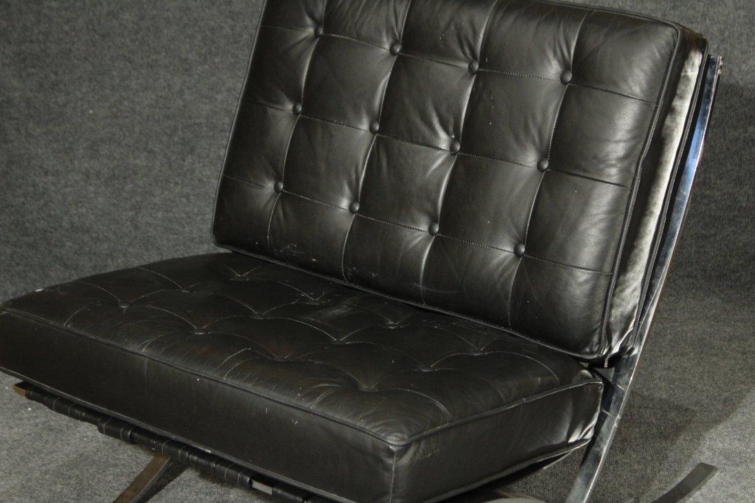 MIES VAN DER ROHE Style BARCELONA CHAIR BLACK ,CHROME - 2