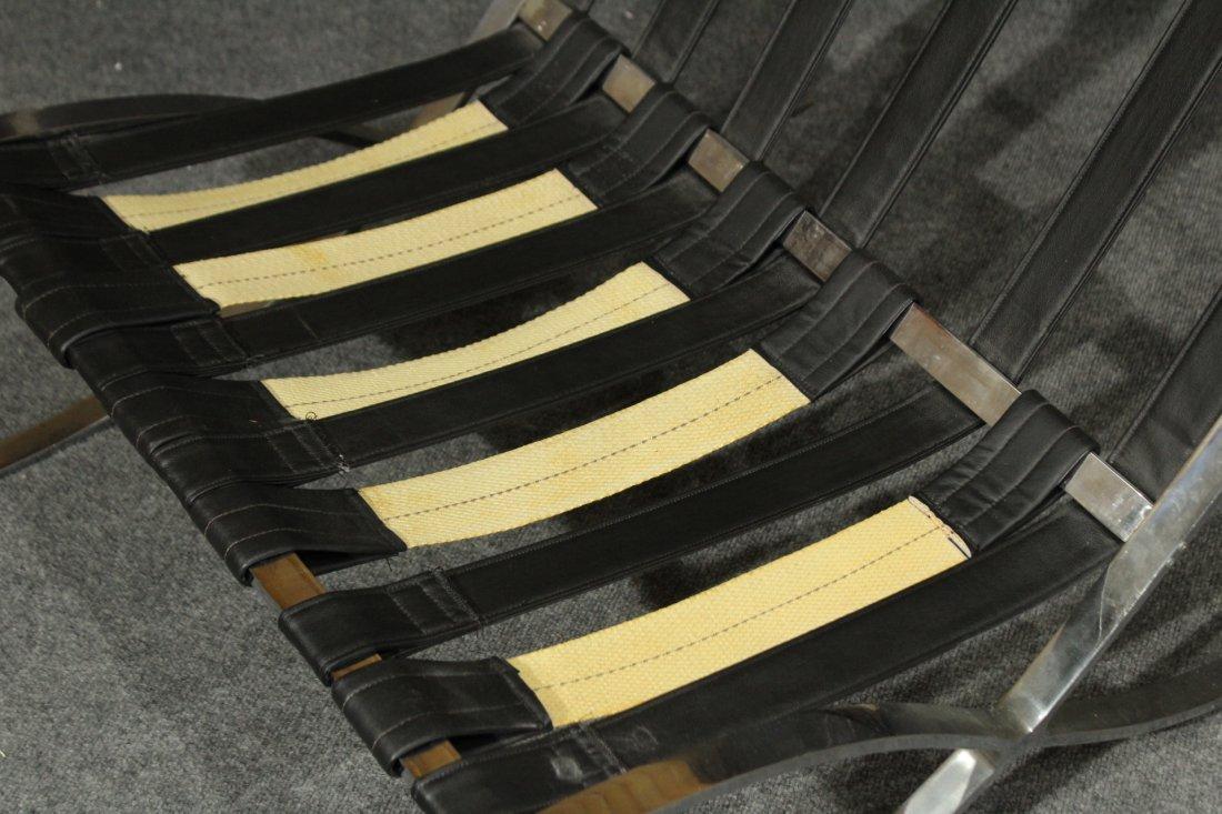 MIES VAN DER ROHE Style BARCELONA CHAIR BLACK ,CHROME - 4