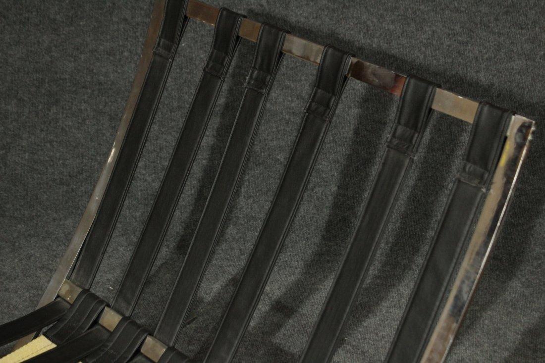MIES VAN DER ROHE Style BARCELONA CHAIR BLACK ,CHROME - 5