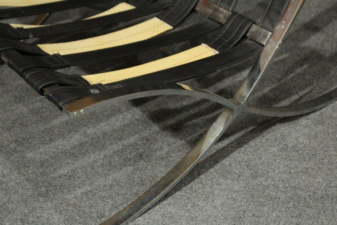 MIES VAN DER ROHE Style BARCELONA CHAIR BLACK ,CHROME - 6