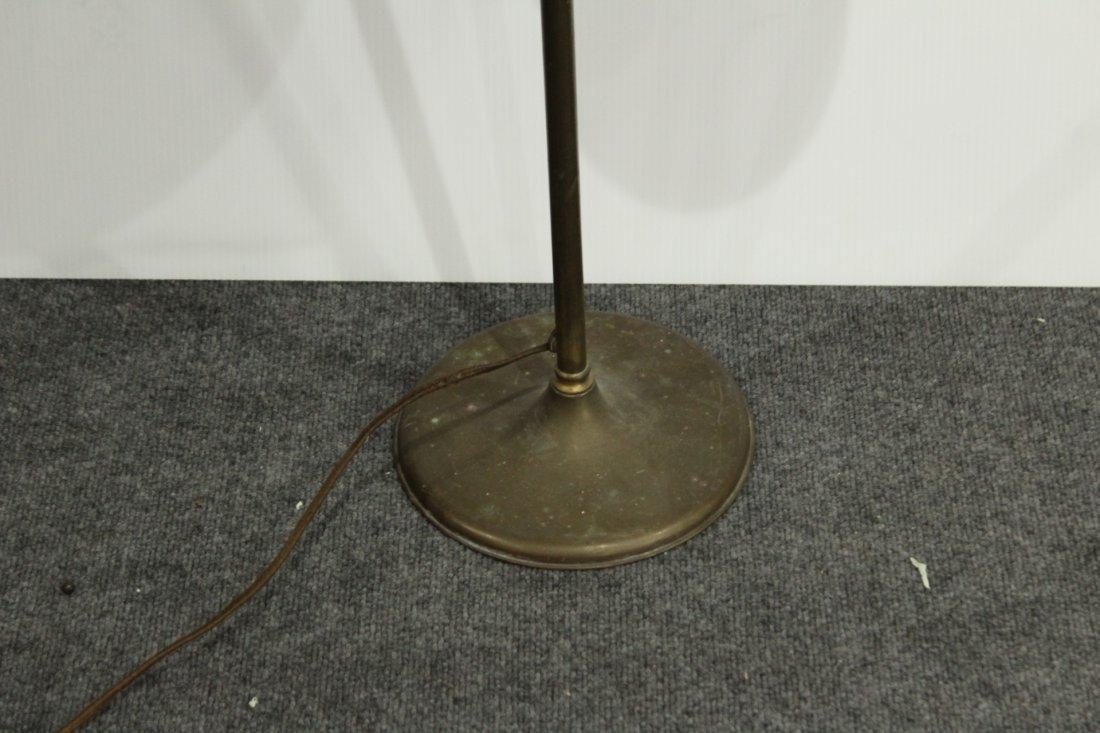 Mid Century INDUSTRIAL BRASS ADJUSTABLE FLOOR LAMP - 3