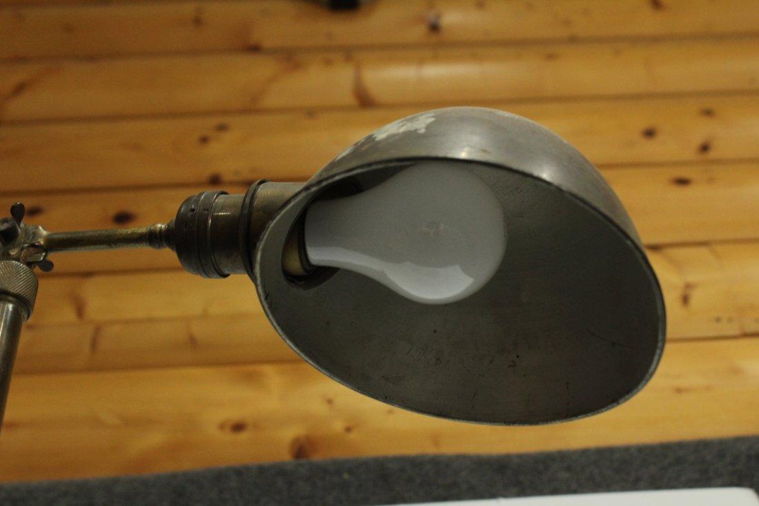 Mid Century INDUSTRIAL BRASS ADJUSTABLE FLOOR LAMP - 4