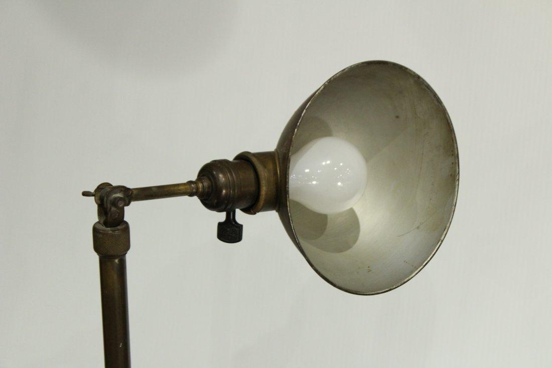 Mid Century INDUSTRIAL BRASS ADJUSTABLE FLOOR LAMP - 5