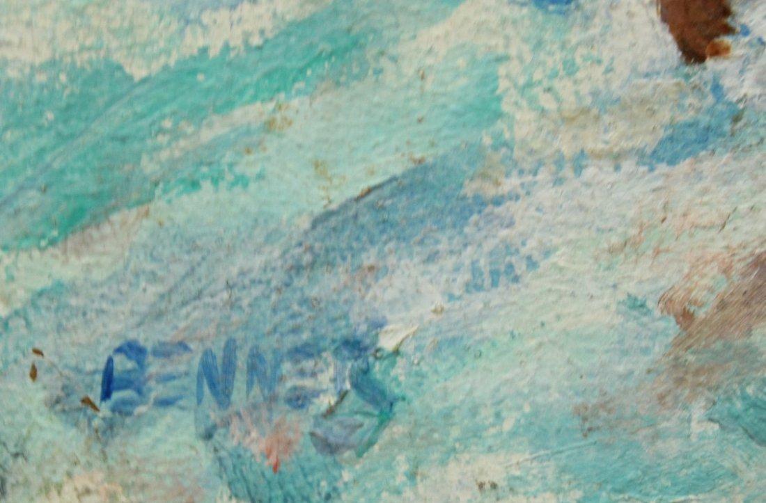 NOLAN P BENNER JR Student Of WALTER BAUM Oil OCEAN SURF - 3