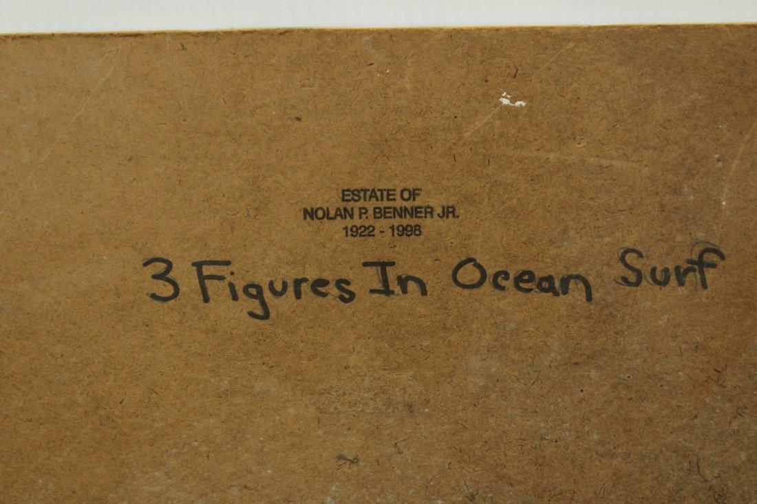 NOLAN P BENNER JR Student Of WALTER BAUM Oil OCEAN SURF - 5