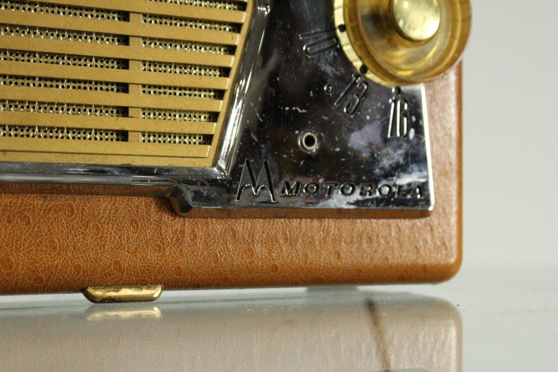 Vintage MOTOROLA Portable Radio Car Grill Design Front - 3