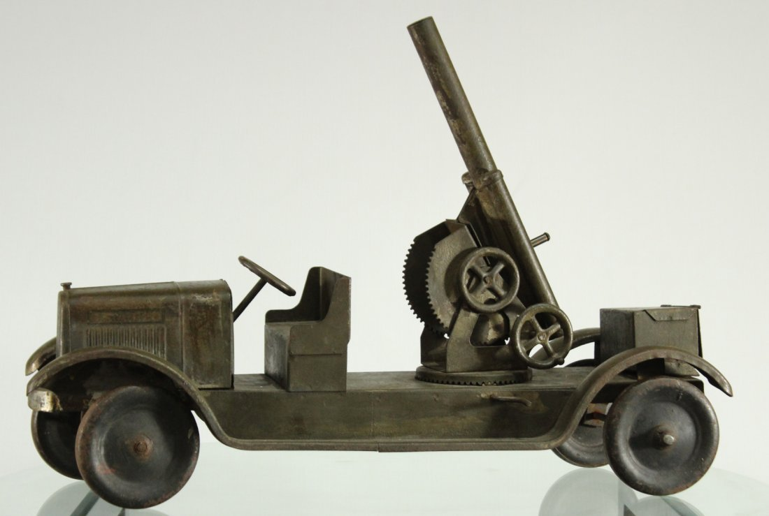 SON-NY ARMY PRESSED STEEL CANNON TRUCK - All Original