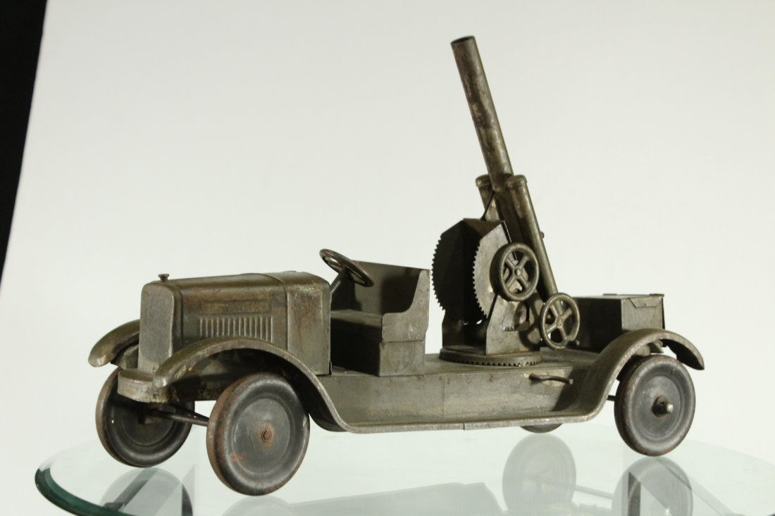 SON-NY ARMY PRESSED STEEL CANNON TRUCK - All Original - 2
