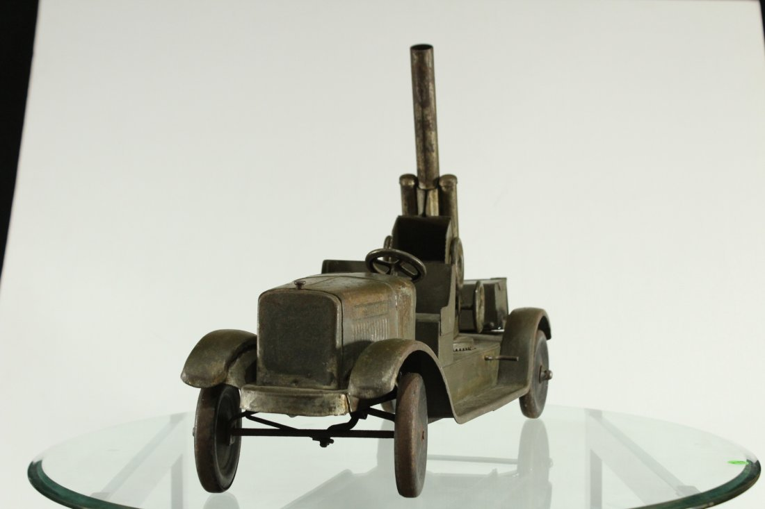 SON-NY ARMY PRESSED STEEL CANNON TRUCK - All Original - 3
