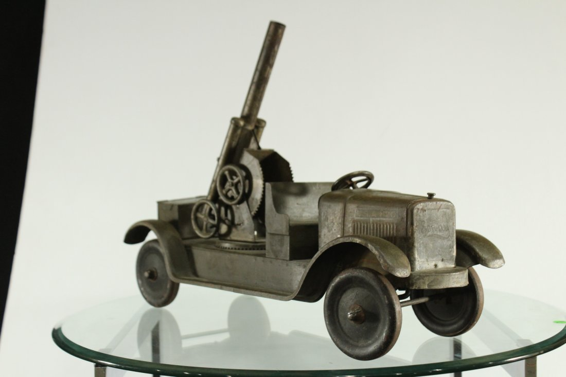 SON-NY ARMY PRESSED STEEL CANNON TRUCK - All Original - 4
