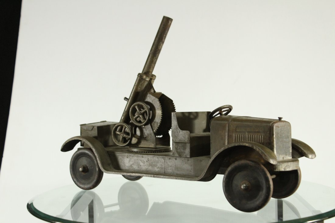 SON-NY ARMY PRESSED STEEL CANNON TRUCK - All Original - 7