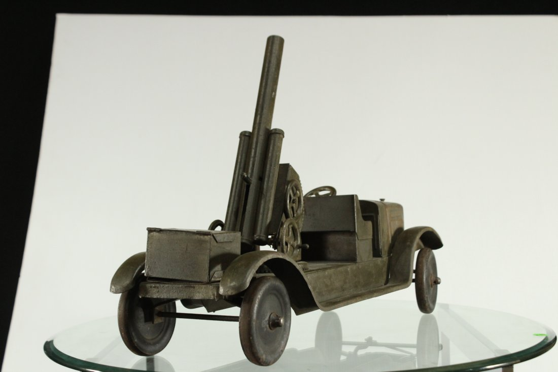 SON-NY ARMY PRESSED STEEL CANNON TRUCK - All Original - 8