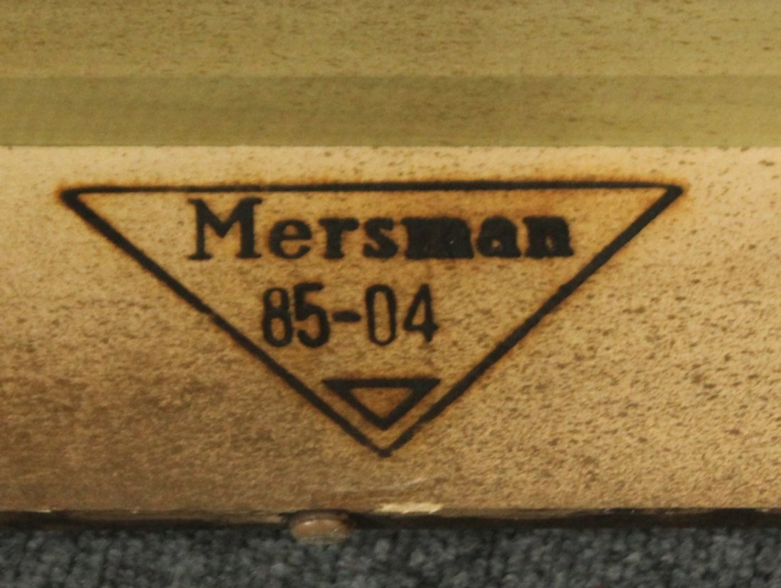 Mersman Mid-century modern end tables glass tops - 6