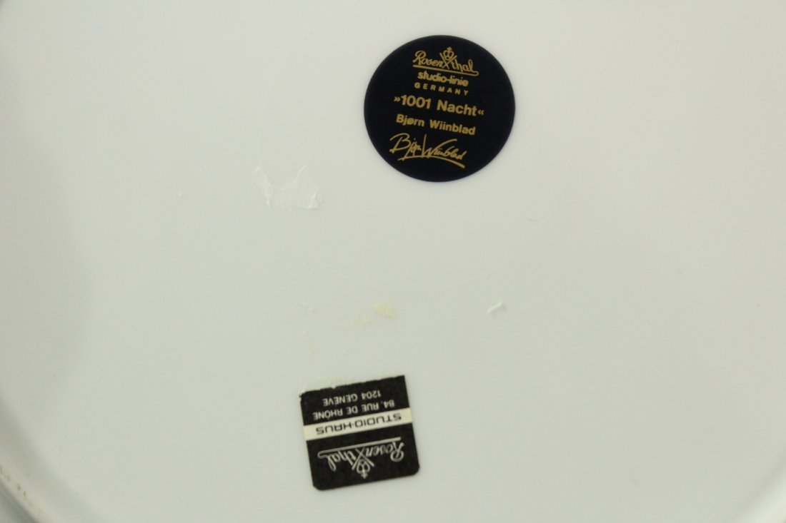 2 BJORN WIINBLOD Collectors Plates ROSENTHAL 1001 NACHT - 4