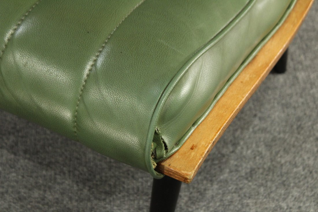 2 Carter Brothers Scoop Chairs Olive Green Mid Century - 6