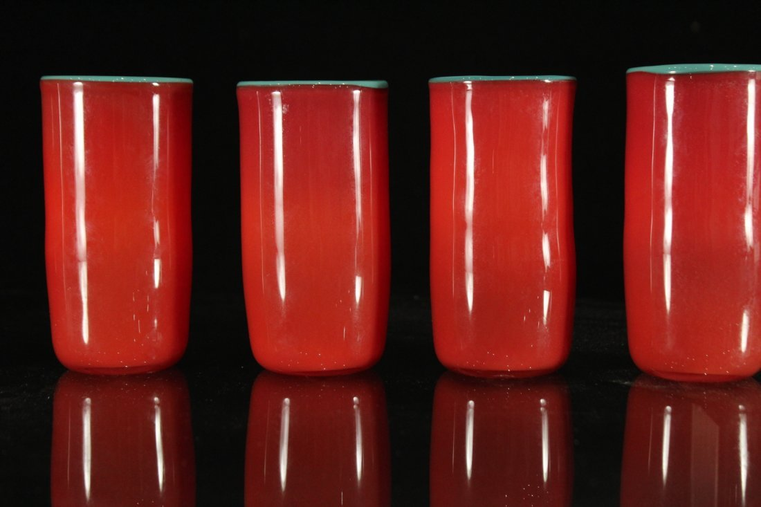 Peàn Doubulyu 1985 Orange Mod glass cups - 2