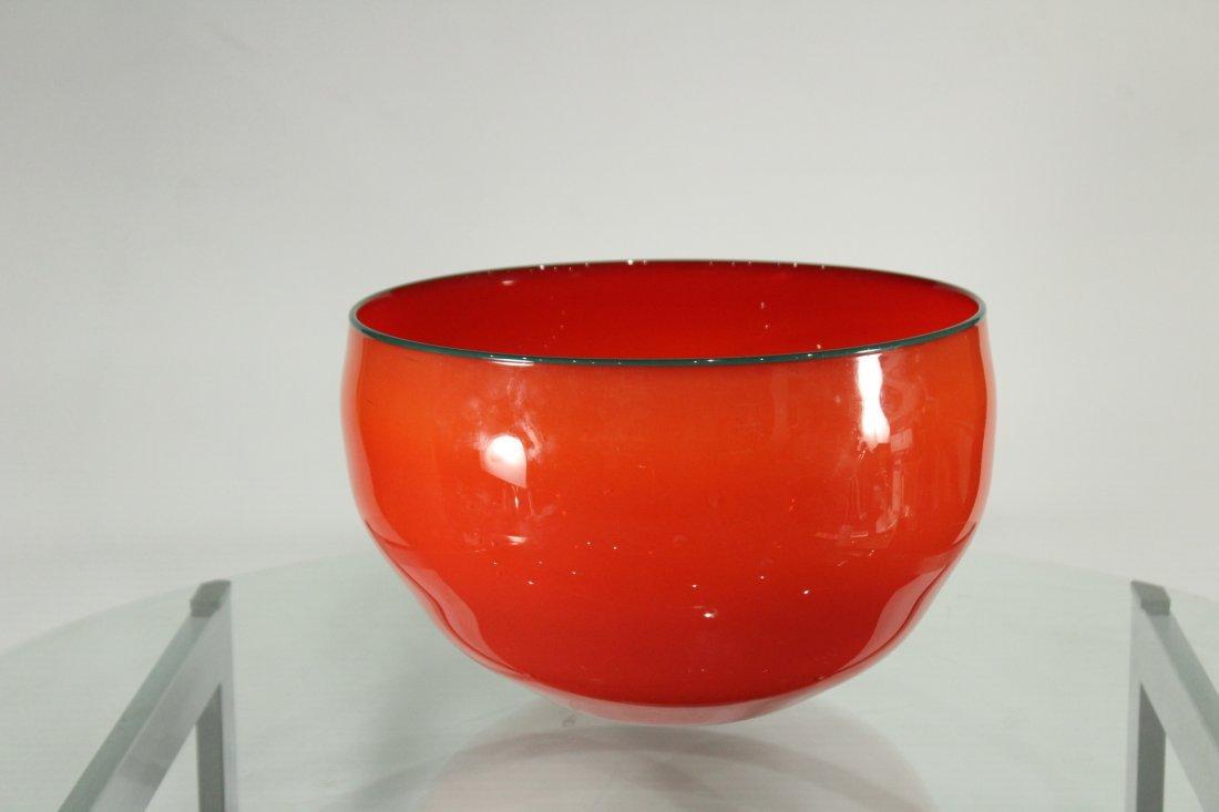 Peàn Doubulyu 1985 Orange Mod glass bowl - 3