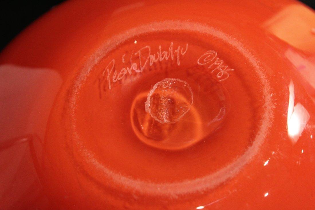 Peàn Doubulyu 1985 Orange Mod glass bowl - 4