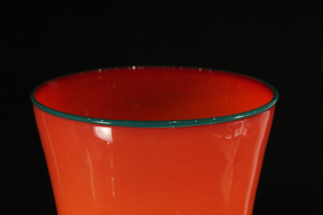 Peàn Doubulyu 1985 Orange Mod glass vase - 3