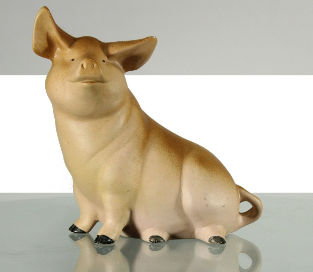Signed 1987 ceramic pig