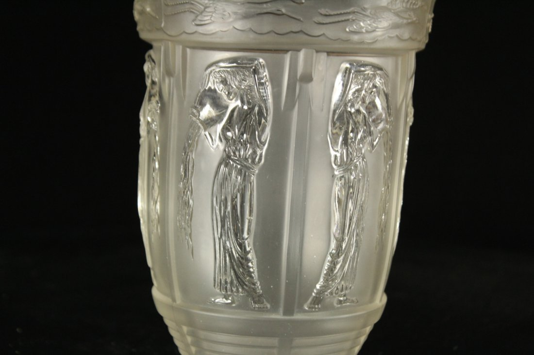 Vintage pressed glass pouring water Greek style - 2