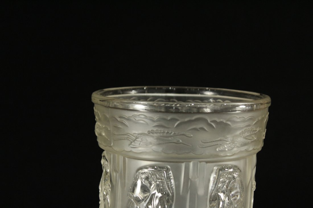 Vintage pressed glass pouring water Greek style - 3