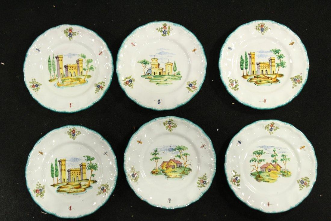 Italian Pervgid glazed ceramic plates