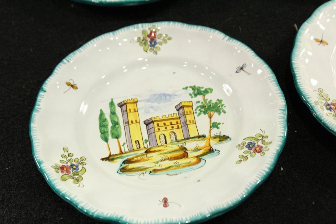 Italian Pervgid glazed ceramic plates - 2