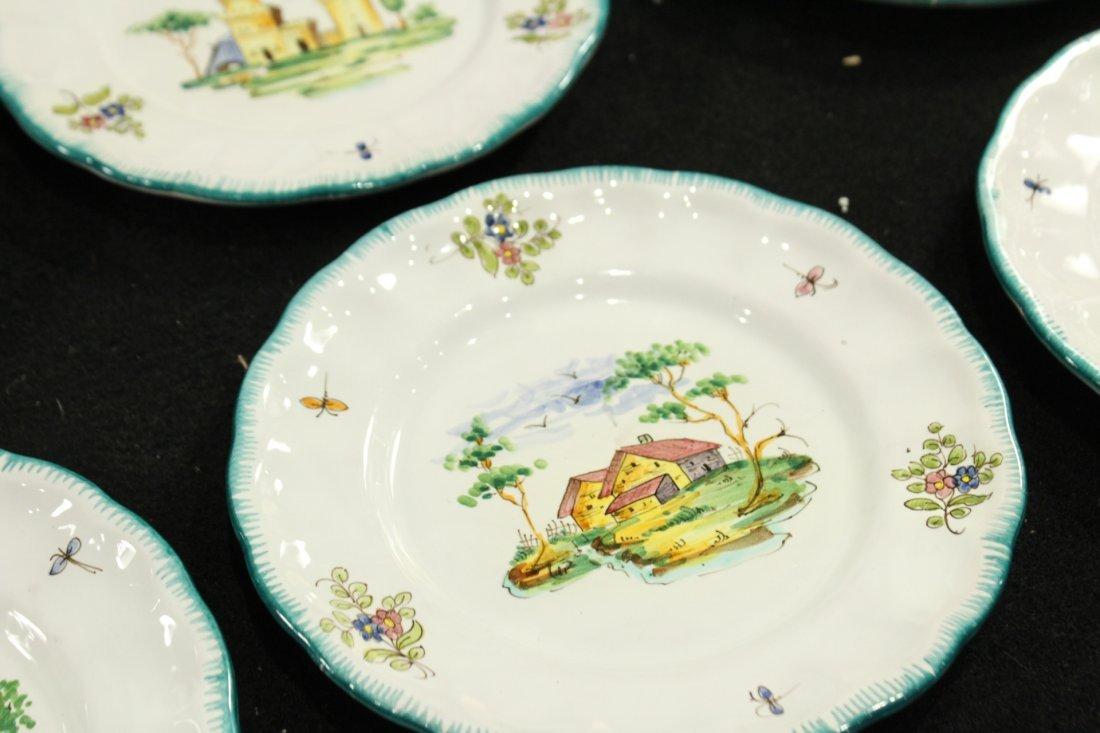 Italian Pervgid glazed ceramic plates - 3