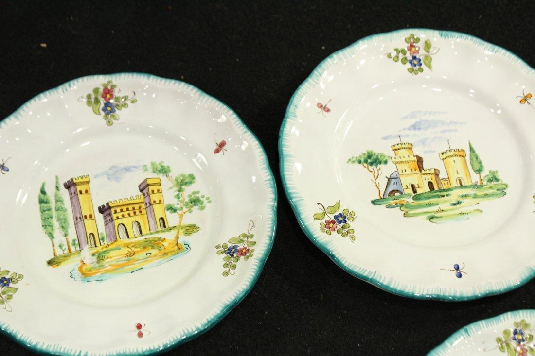 Italian Pervgid glazed ceramic plates - 4