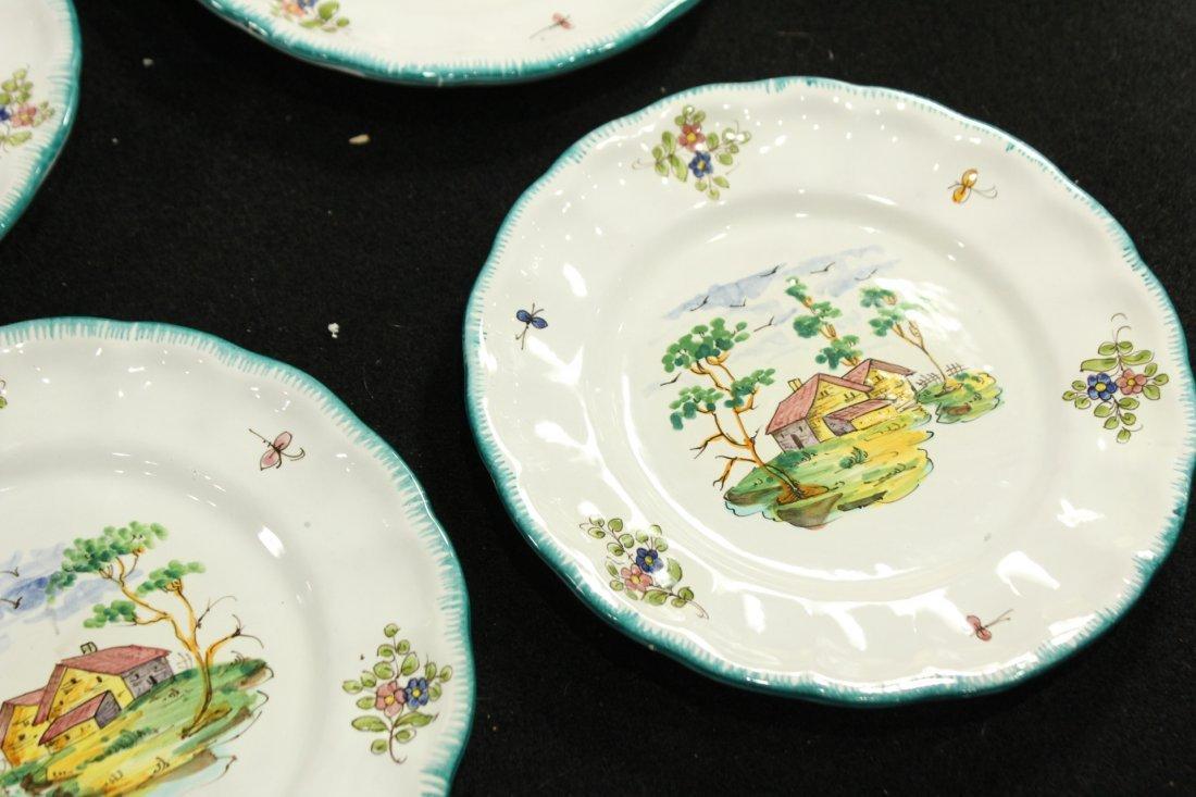 Italian Pervgid glazed ceramic plates - 5