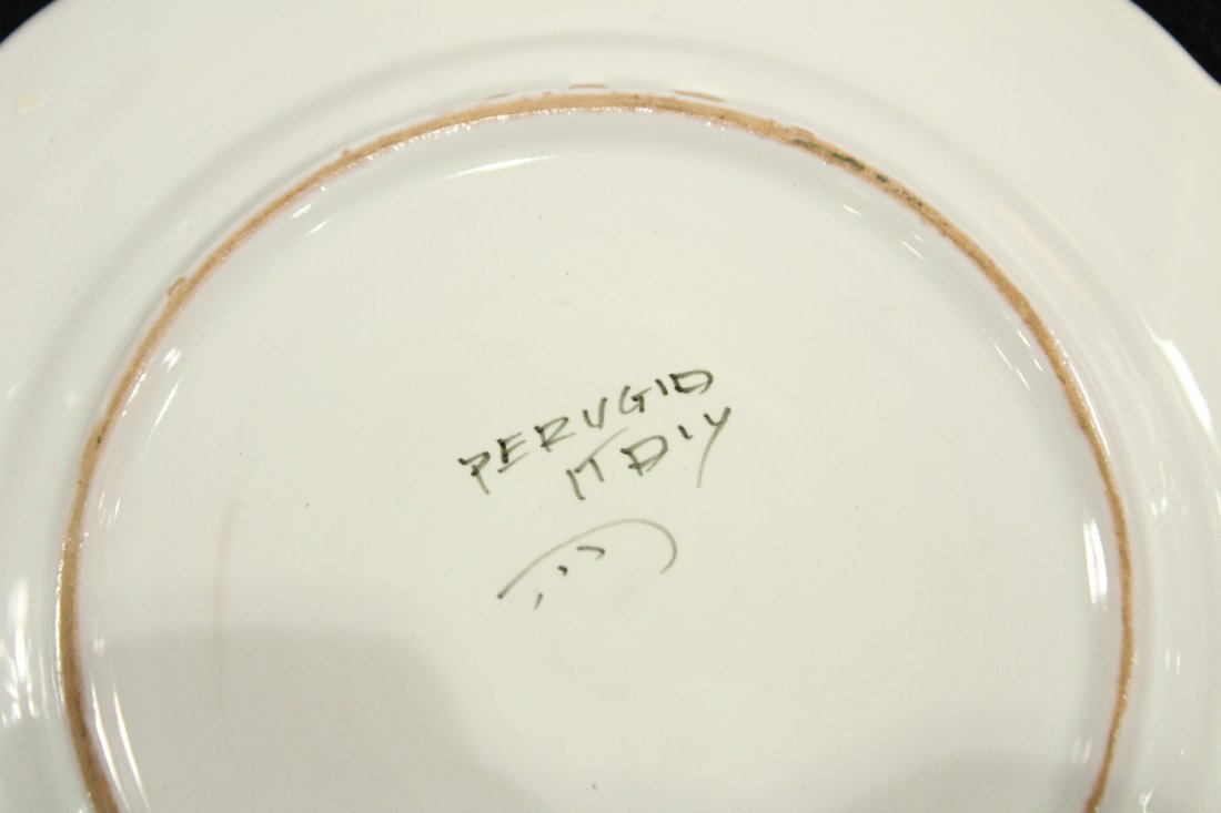 Italian Pervgid glazed ceramic plates - 6