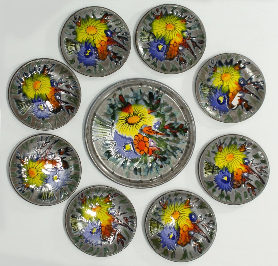 9-Piece France ceramic plates set