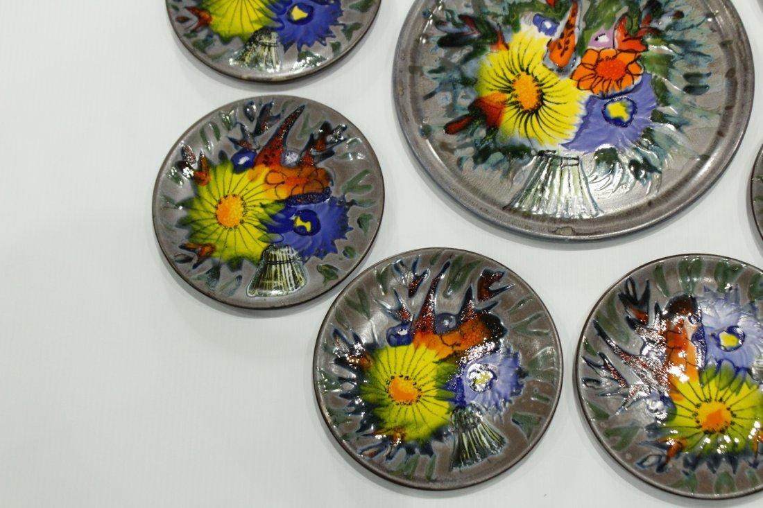 9-Piece France ceramic plates set - 2