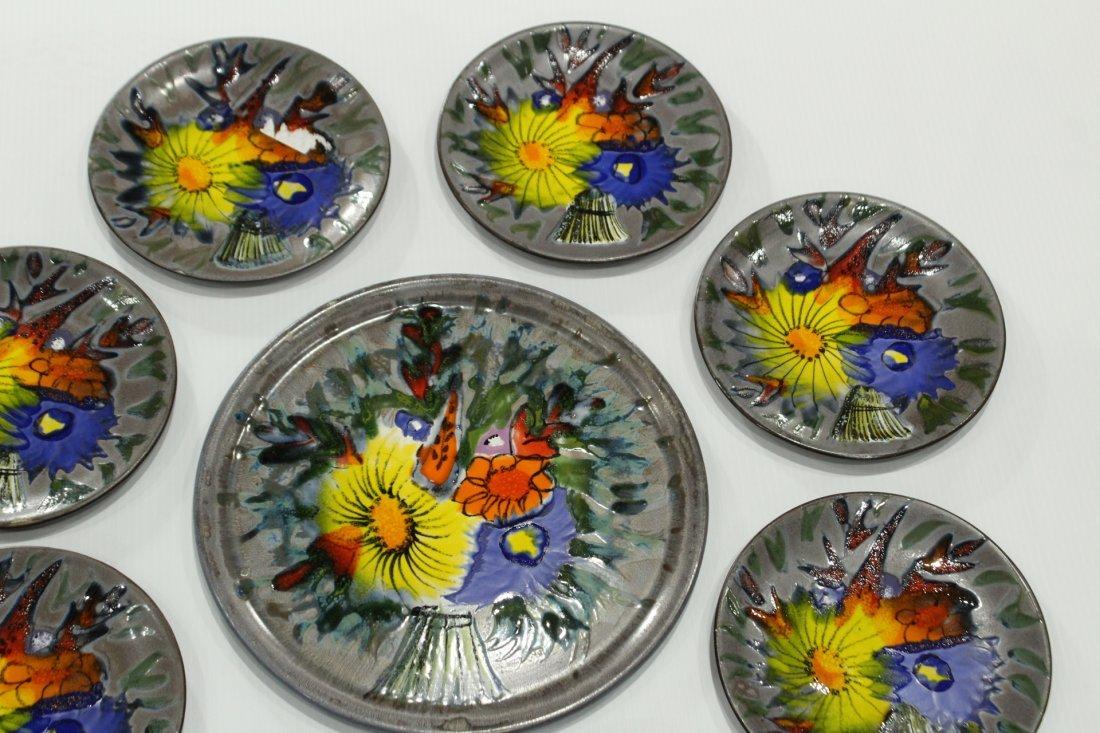 9-Piece France ceramic plates set - 3