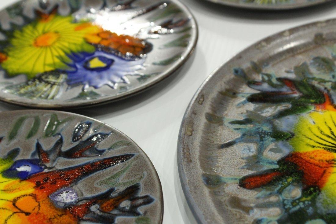 9-Piece France ceramic plates set - 5