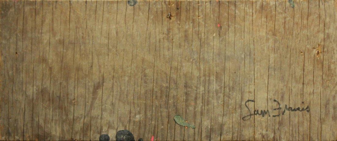 Sam Francis Oil on wood Abstract splatter art - 2