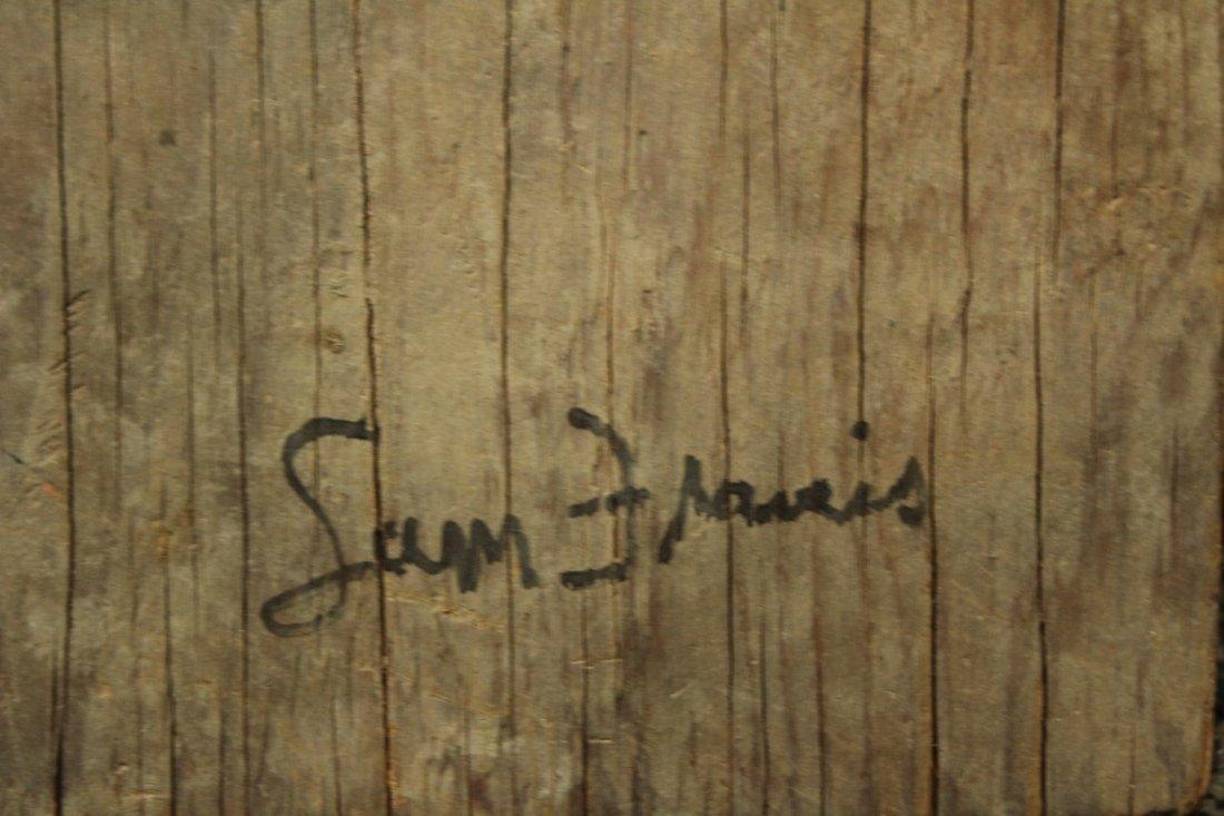 Sam Francis Oil on wood Abstract splatter art - 3