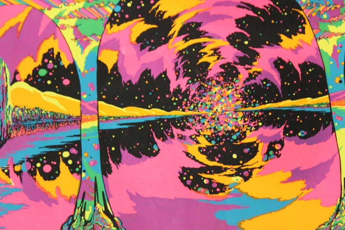 "1972 Black Light Original Poster ""PILLARS OF DAWN"" - 2"