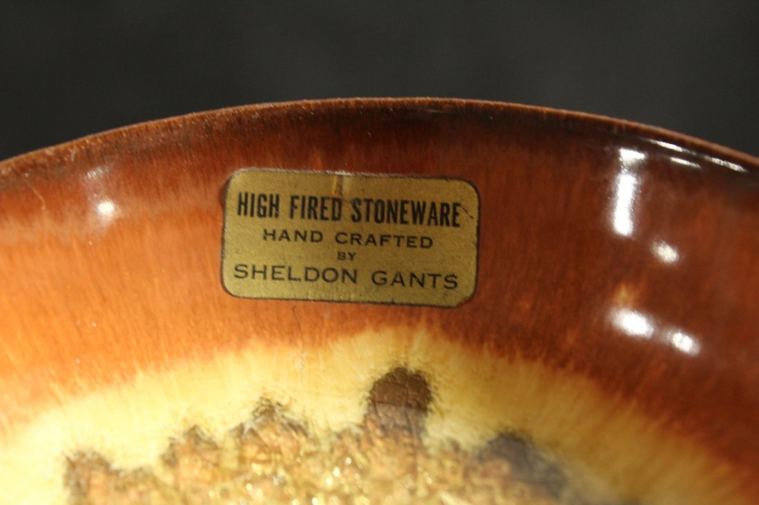 SHELDON GANTS hand crafted high fired stoneware bowl - 5