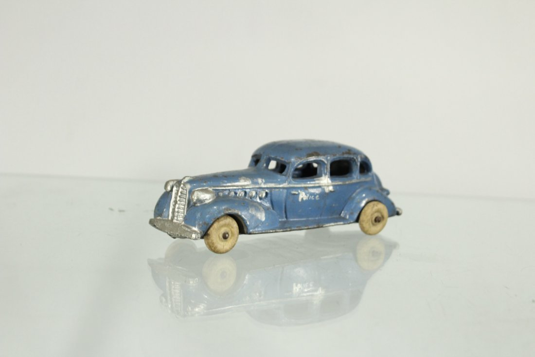 3 Assorted Antique Toy Cars, Cast, Tin, Rubber - 3