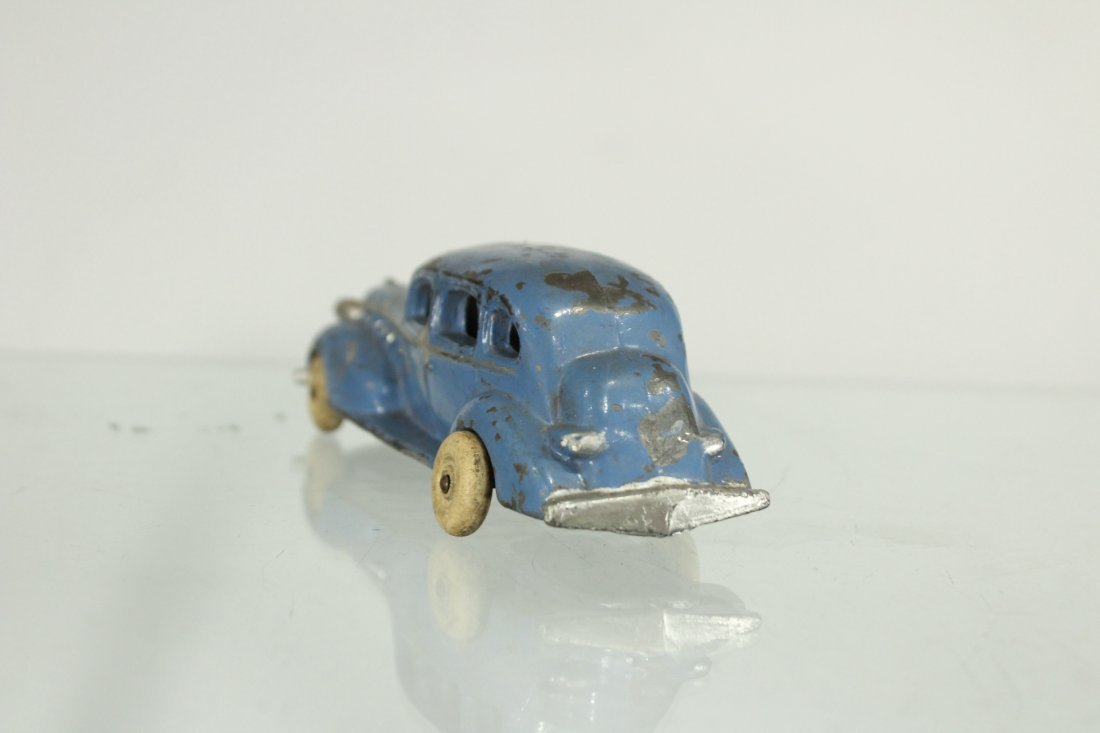 3 Assorted Antique Toy Cars, Cast, Tin, Rubber - 4