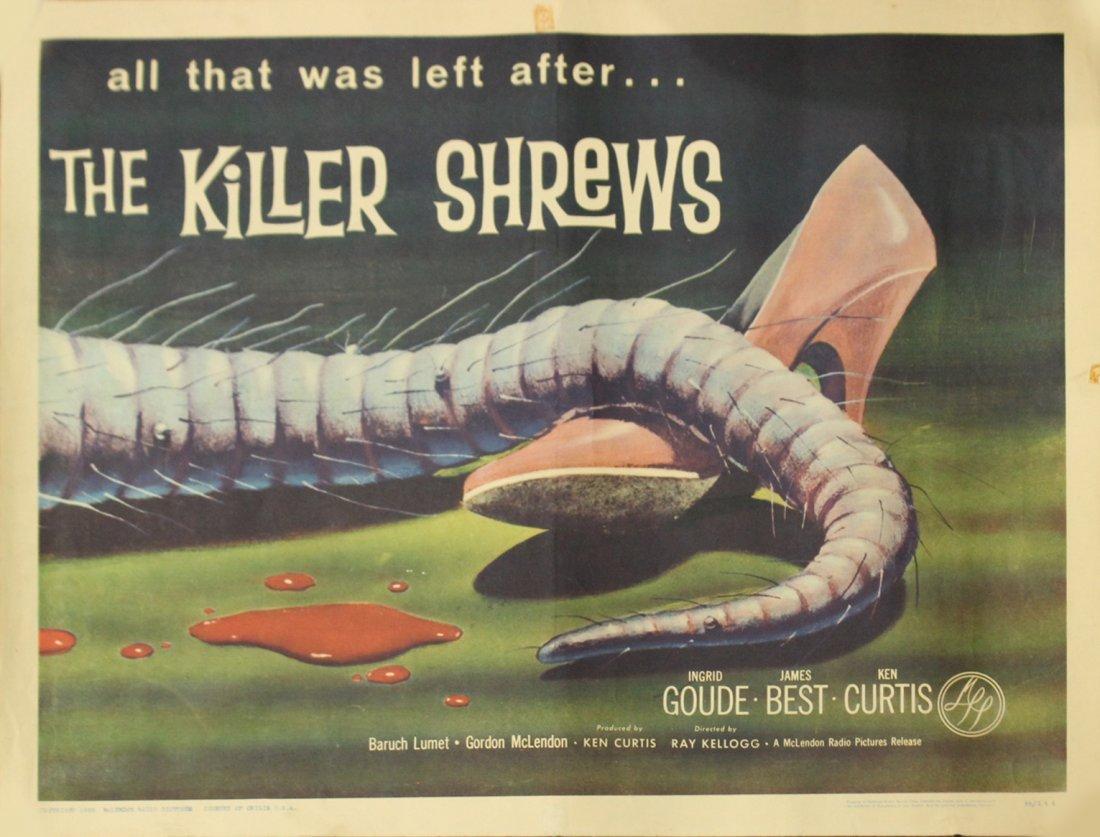 1959 The Killer Shrews vintage movie poster
