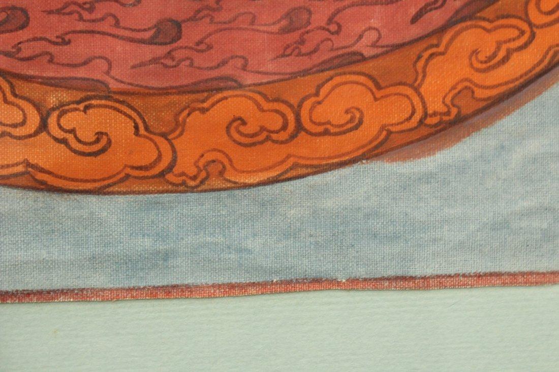 Watercolor on fabric oriental mandala - 4